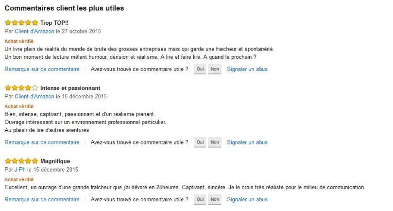 Commentaires Amazon